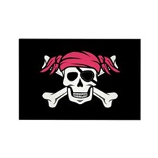 Pink Pigtail Pirate Magnets