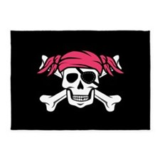 Pink Pigtail Pirate 5'x7'Area Rug
