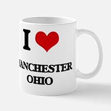 I love Manchester Ohio Mug