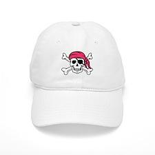 Pink Pirate Baseball Baseball Cap