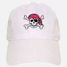 Pink Pirate Baseball Baseball Cap