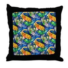 Tropical fish party Throw Pillow