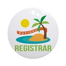 Retired Registrar Ornament (Round)