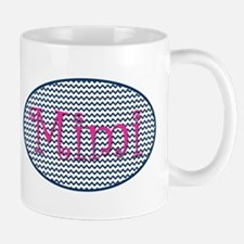 Mimi Navy Chevron and Pink Mugs