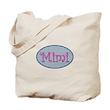 Mimi Navy Chevron and Pink Tote Bag