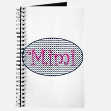 Mimi Navy Chevron and Pink Journal