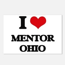 I love Mentor Ohio Postcards (Package of 8)