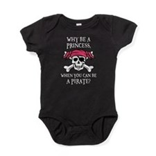 Pink Pirate Baby Bodysuit