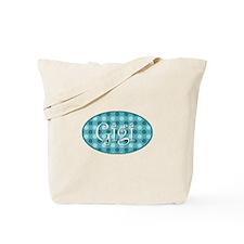 Gigi Turquoise Polkadots Tote Bag