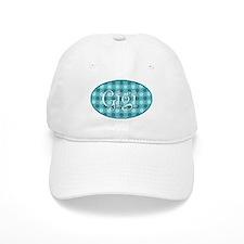 Gigi Turquoise Polkadots Baseball Cap