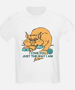 I Love You Funny Cat Graphic T-Shirt