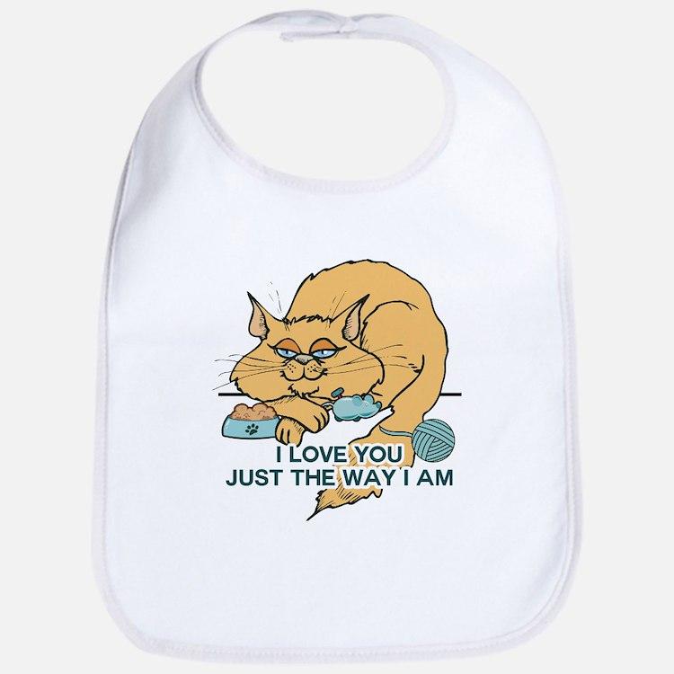 I Love You Funny Cat Graphic Bib