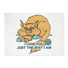 I Love You Funny Cat Graphic 5'x7'Area Rug