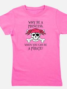 Pink Princess Pigtail Pirate Girl's Tee