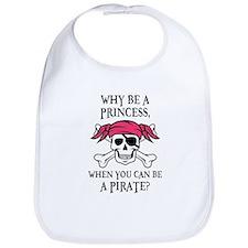 Pink Princess Pigtail Pirate Bib