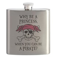 Pink Princess Pigtail Pirate Flask
