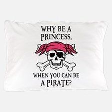 Pink Princess Pigtail Pirate Pillow Case