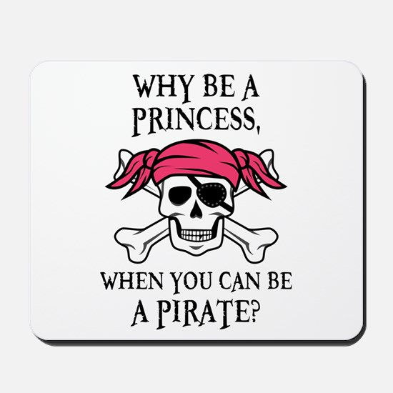 Pink Princess Pigtail Pirate Mousepad