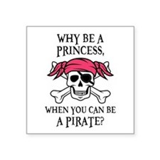 Pink Princess Pigtail Pirate Sticker