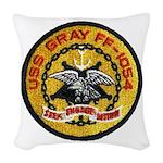 USS GRAY Woven Throw Pillow