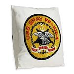 USS GRAY Burlap Throw Pillow