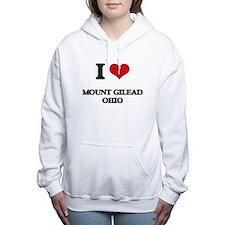 I love Mount Gilead Ohio Women's Hooded Sweatshirt