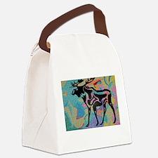 Moose Tracks Canvas Lunch Bag