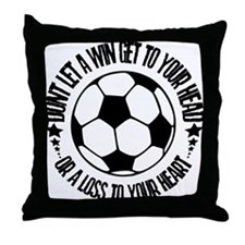Soccer A Win Throw Pillow