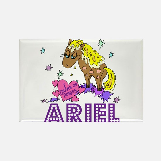 I Dream Of Ponies Ariel Rectangle Magnet