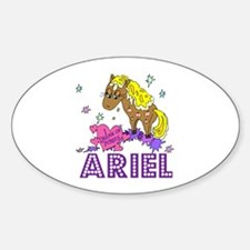 I Dream Of Ponies Ariel Oval Decal
