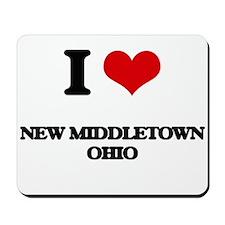 I love New Middletown Ohio Mousepad