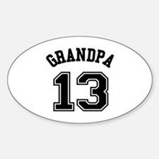 Grandpa's Uniform No. 13 Decal