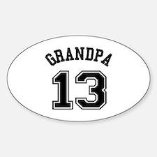 Grandpa's Uniform No. 13 Sticker (Oval)