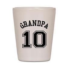 Grandpa's Uniform No. 10 Shot Glass