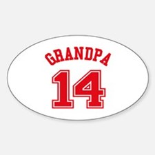 Grandpa's Uniform No. 14 Decal
