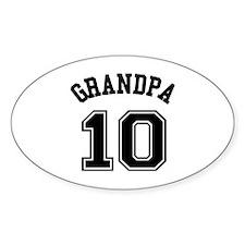 Grandpa's Uniform No. 10 Decal