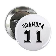 """Grandpa's Uniform No. 11 2.25"""" Button"""