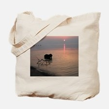 Black Lab at Sunset Tote Bag