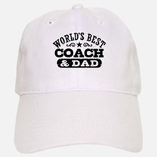 World's Best Coach & Dad Baseball Baseball Cap