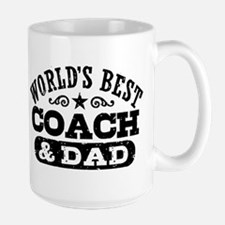 World's Best Coach & Dad Mug