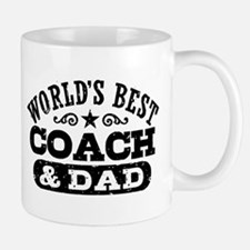 World's Best Coach & Dad Small Mugs