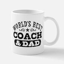 World's Best Coach & Dad Small Small Mug