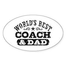 World's Best Coach & Dad Decal