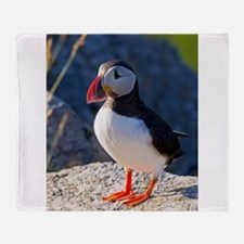 Atlantic Puffin Standing Throw Blanket