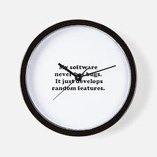 My Software has no Bugs Wall Clock