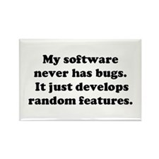 My Software has no Bugs Rectangle Magnet