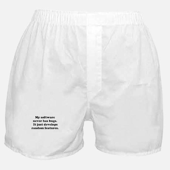 My Software has no Bugs Boxer Shorts