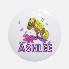 I Dream Of Ponies Ashlee Ornament (Round)