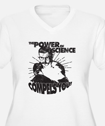 The Power Science Compels You! - Gray Plus Size T-