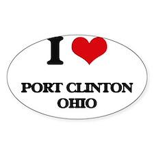 I love Port Clinton Ohio Decal